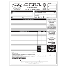 chem dry printing invoices work orders franchise print shop style 3 · invoices work orders