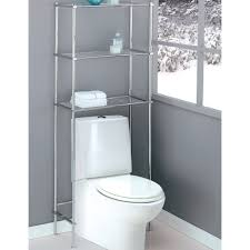 Space Saving Cabinet Stainless Steel Three Shelves Over The Toilet Storage Rack Without