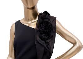 Teri Jon Silk Gown With Asymmetrical Neckline