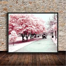 hot cherry avenue number digital canva wall picture diy digital paint print poster oil painting