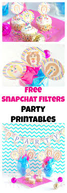 Diy Party Printables Free Snapchat Party Printables Val Event Gal