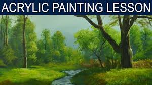 acrylic landscape painting lesson afternoon lights by jm lisondra you