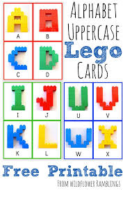 Chuchu tv nursery rhymes & kids songs. Alphabet Lego Cards Uppercase Free Printable Wildflower Ramblings New