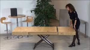 Space Saving Coffee Table Spaceman Boxster Space Saving Dining Table Youtube