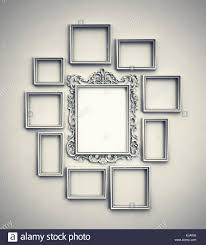 picture frames on wall simple. Wall With Simple Frames Surrounding Ornamented Frame In The Middle Picture On Alamy