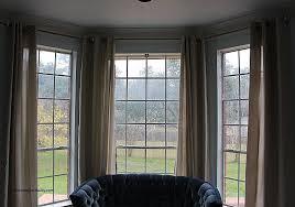 eyelet curtains on bay window awesome bay window eyelet curtain pole