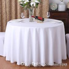 1pc 19 colors polyester fabric solid round white table cloth for hotel wedding party decoration rectangle tablecloth for home