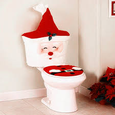 new year santa toilet seat cover rug bathroom set decorations for home