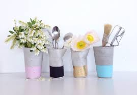 Crushed concrete cups by Design Twins Pastel
