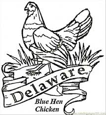 Small Picture Blue Hen Bird Of Delaware Coloring Page Happy DE Day 1271787
