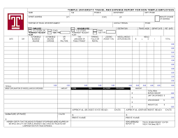 Expenses Report Sample 40 Expense Report Templates To Help You Save Money