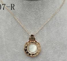 bulgari bulgari pendant with chain in 18kt pink gold with mother