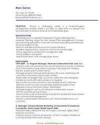 Project Management Resume Objectives Top It Manager Resume Objective Project Manager Resume Objective 24 2