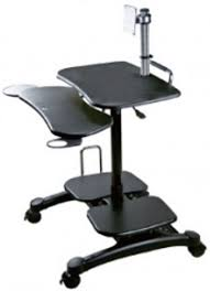 compact computer stand. Perfect Computer Aidata LDC003P Monitor ARM Cart II SitStand Mobile Computer Desk Compact  Units Store Your Entire Computer In Minimal Space Easy Height Adjustments For  In Stand E