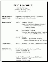 Part Time Job Resume Sample Gorgeous First Time Job Resume Example Part Standart Thus Examples For