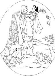 Coloring Snow Princess Snow White Coloring Pages For Girls And
