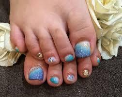Nail Salon Freestyle水面アートが綺麗summerフットネイル