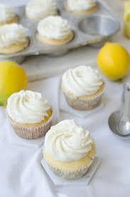 Lemon Curd Stuffed Cupcakes Lemon Buttercream A Side Of Sweet