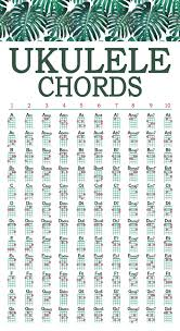 Printable Ukulele Chord Chart For Beginners Tiki Ukulele Chord Chart Free Printable For Standard Tuning