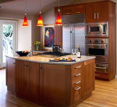 red pendant lighting. Kitchen Island Lighting Ideas View In Gallery Bright Red Pendant Lights Offer A Vivid Contrast To