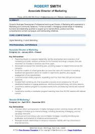 Director Of Marketing Resume Samples Qwikresume