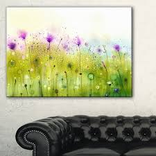 green purple abstract cosmos of flowers large flower canvas wall art red on purple and green canvas wall art with shop green purple abstract cosmos of flowers large flower canvas