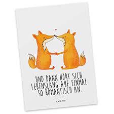 Amazonde Mr Mrs Panda Grußkarte Einladung Postkarte Füchse