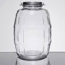 anchor hocking 85679ahg17 2 5 gallon barrel jar with brushed simple lids on home decor ideas toger with gallon glass jars and heritage hill