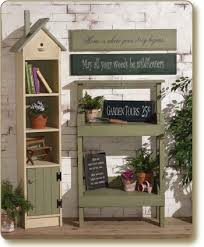 country look furniture. Birdhouse Decor Hutch, Potting Table Country Look Furniture T