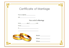 Wedding Certificate Template Extraordinary Free Fake Marriage Certificate Trisamoorddinerco