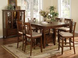 High Top Dining Table With Storage Charming Square Chocolate Mahogany Wood Bar Height Kitchen Table