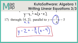 kuta algebra 1 writing linear equations part 3