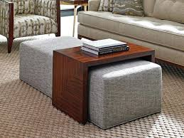 furniture leather ottoman coffee table square with ottomans 4 underneath sofa nesting nested round w