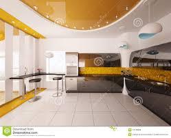 Free 3d Kitchen Design Interior Design Of Modern Kitchen 3d Render Royalty Free Stock