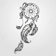 Native Dream Catchers Drawings Dreamcatcher Feathers And Beads Native American Indian Dream 9