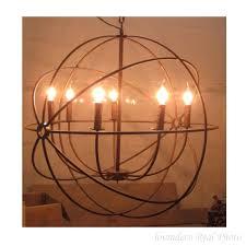 rh industrial foucault s orb iron chandelier 19 6 23 6