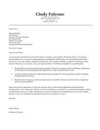 Example Of A Cover Letter For A Student Nurse Practitioner Cover