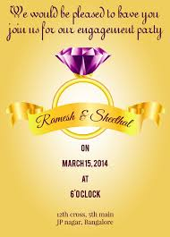 Online Engagement Invitation Cards Free Pin By Kiran Kumar On Kiran Pinterest Engagement Diamond And Check 2