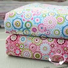 160*50CM 2PCS Colorful Circle Floral Print Cotton Fabric Teida DIY ... & 160*50CM 2PCS Colorful Circle Floral Print Cotton Fabric Teida DIY Tissue  Patchwork Telas Sewing Adamdwight.com