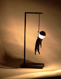 Innovation on table lamps idea - Hanged man type lighting - Interesting  table lamps | Decorative