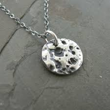 full moon necklace in fine silver from