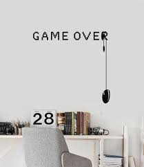 game over vinyl wall decal video games gamer room art decor stickers mural ig5322  on wall art decoration vinyl decal sticker with gaming wall vinyl decal wallstickers4you