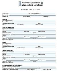Renters Application Template Rental Lease Application Template Skincense Co