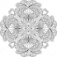 Bloemen Mandala Kleurplaat Stockvector Fodorviola73 130289758