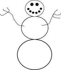 Snowman Template Printable Snowman Outline Printable Drawn Snowman Outline Free Pages Drawn