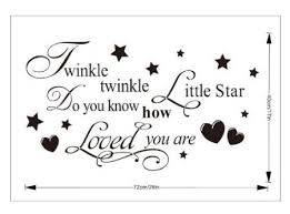 >twinkle twinkle little star wall sticker uk products pinterest  twinkle twinkle little star wall sticker