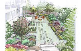 Front Door Garden Design Adorable Garden Creation How To Draw A Perspective Sketch DrawnToGarden