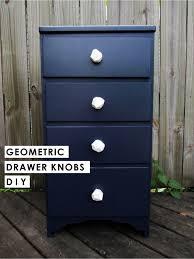 diy geometric drawer knobs