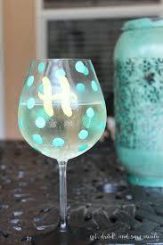 diy hand painted wine glass for girls night