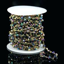 mini glass gems bulk home ideas site antique bronze titanium faceted bead chain wire wrapped fashion